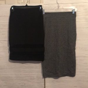 2 H&M's divided skirts